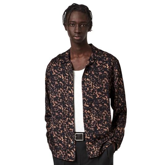 AllSaints Tortoiseshell LS Shirt