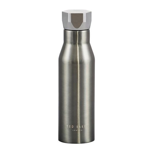Ted Baker Water Bottle Hexagonal Lid Gunmetal 425Ml