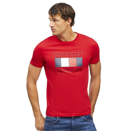 Tommy Hilfiger Wcc Flag Chest Print Tee