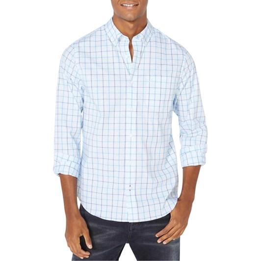 Nautica Slim Fit Wrinkle Resistant Plaid Shirt