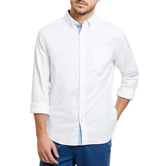 Nautica Classic Fit Wrinkle Resistant Stretch Oxford Shirt