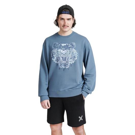 KENZO Gradient Tiger Embroidered Crew Sweatshirt