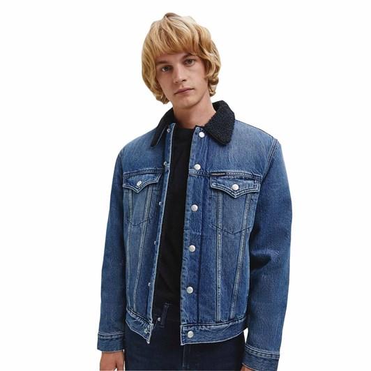 Calvin Klein Foundation Sherpa Denim Jacket