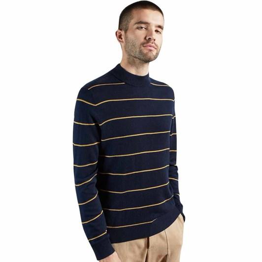Ted Baker Nocal Stripe Mock Neck Knit