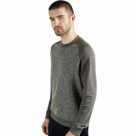 Ted Baker Props Long Sleeve Textured Front Sweatshirt