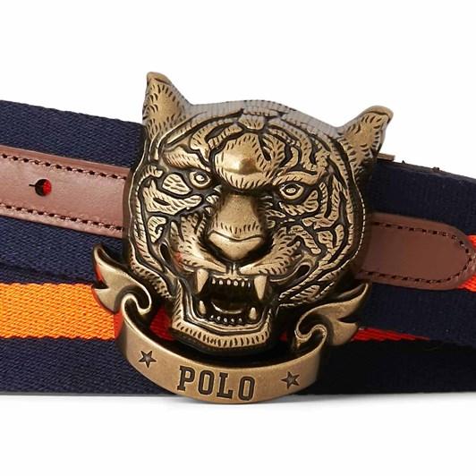Polo Ralph Lauren Cotton Web/Smth Lth-Tiger Web Bt-Csl-Ctn