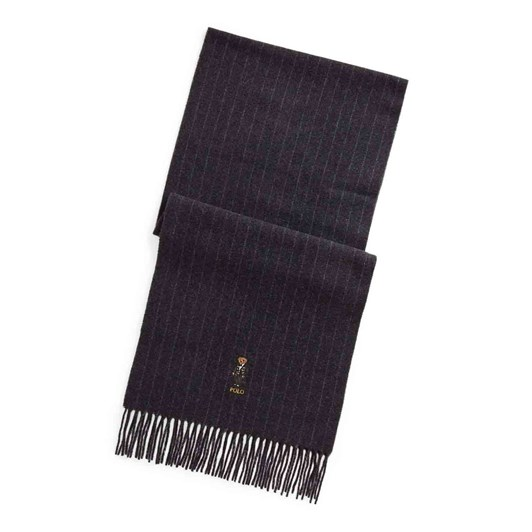 Polo Ralph Lauren Polo Bear Pinstripe Wool-Cashmere Scarf