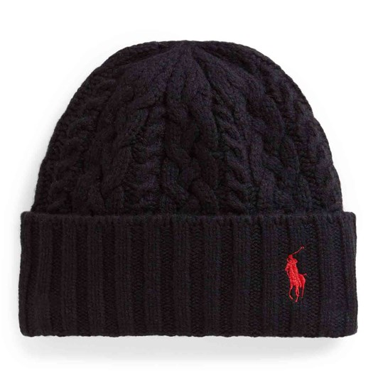 Polo Ralph Lauren Cable-Knit Merino-Wool-Blend Hat