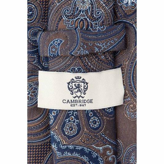 Cambridge Etched Paisley 7.5Cm Tie