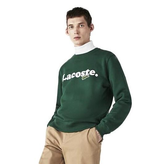 Lacoste  Lacoste Wording Crew Neck Sweat Green