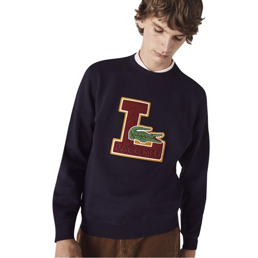 Lacoste  L Graphic Non Brushed Sweat Abysm