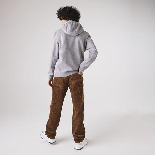Lacoste  Lacoste Logo Hoodie Silver Chine