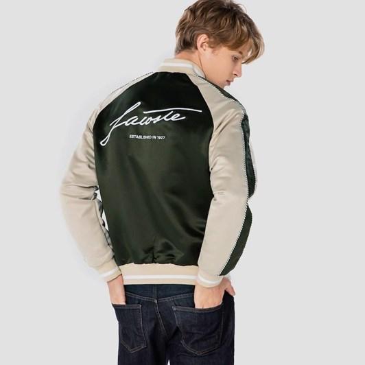 Lacoste  Signature Bomber Jacket Viennese/Baobab-