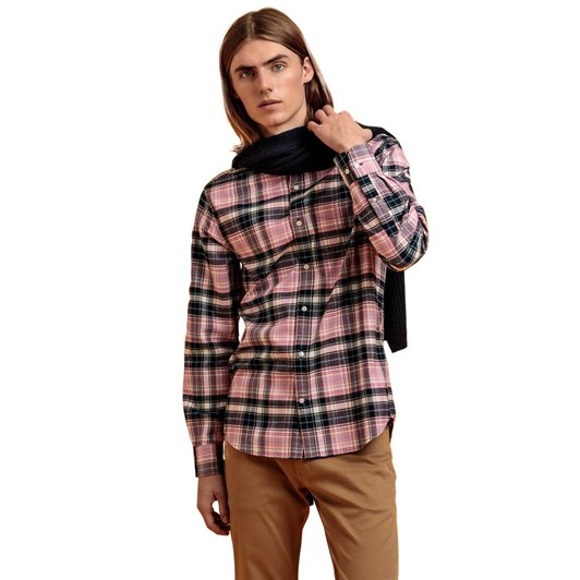 Gant Regular Fit Plaid Brushed Oxford Shirt