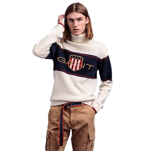Gant Archive Shield Turtleneck Sweater