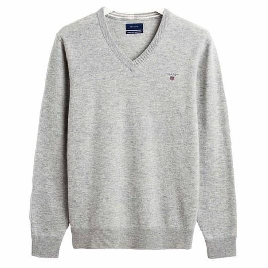 Gant Super Fine Lambswool V Neck Sweater