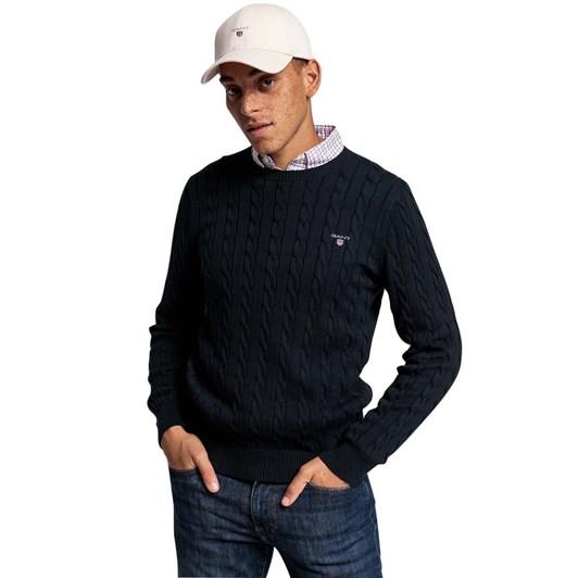 Gant Cotton Cotton Cable Crew Neck Sweater