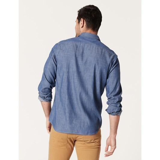 Blazer Ben L/S Denim Double Pkt Shirt