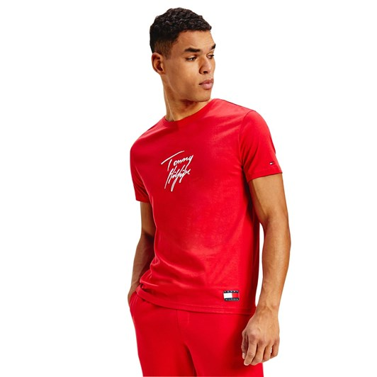Tommy Hilfiger Tommy 85 Tee Logo Primary Red