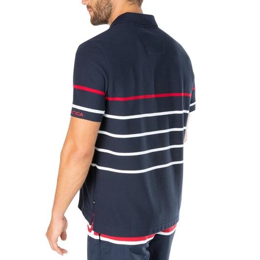 Nautica Ss Rec Hnycomb Stripe Polo