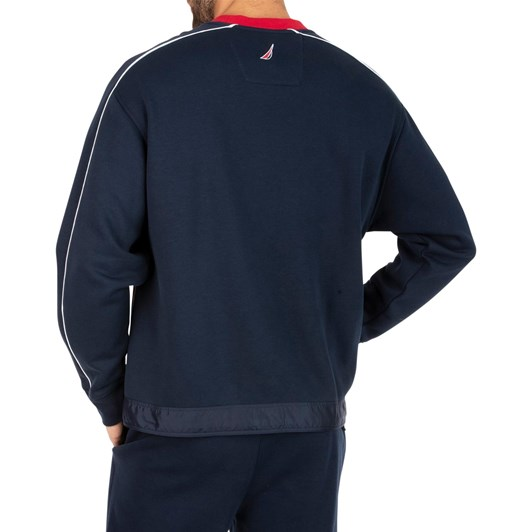 Nautica Heritage Blocked Crew Neck