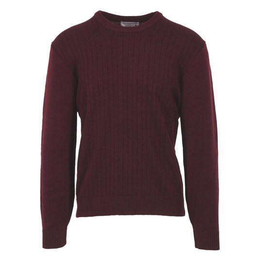 Silverdale  Crew Jacquared Front - Regular Front, 100% Pure Wool