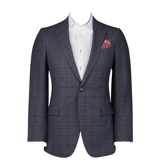 Rembrandt Cooper Navy Check Two Piece Suit