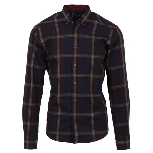 Rembrandt Ohope Red & Navy Check Shirt