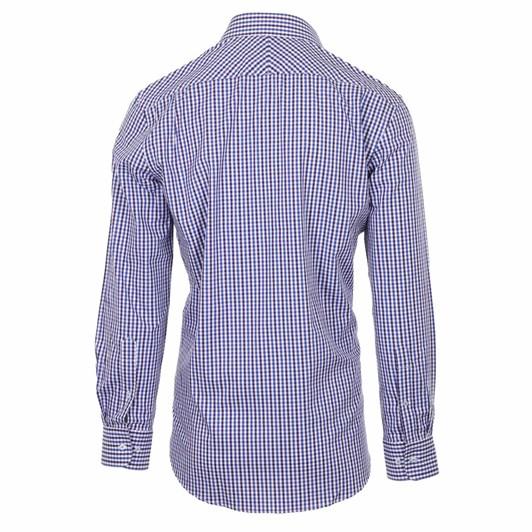 Rembrandt Sinatra Blue & Burgundy Check Shirt
