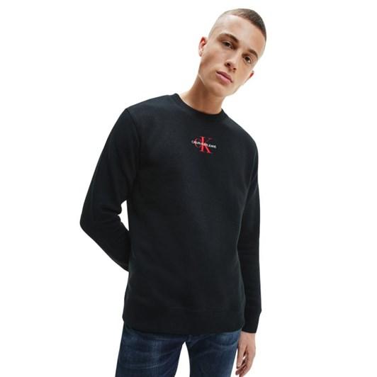Calvin Klein Embroidered Logo Sweatshirt Ck Black