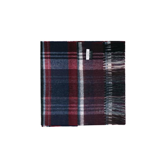Fellini 100% Lambswool Red Black Triple Check Scarf