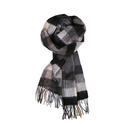 Fellini 100% Lambswool Taupe Charcoal Textured Scarf