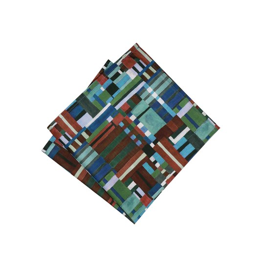 Parisian with Liberty Patchwork Canvas Pocket Square