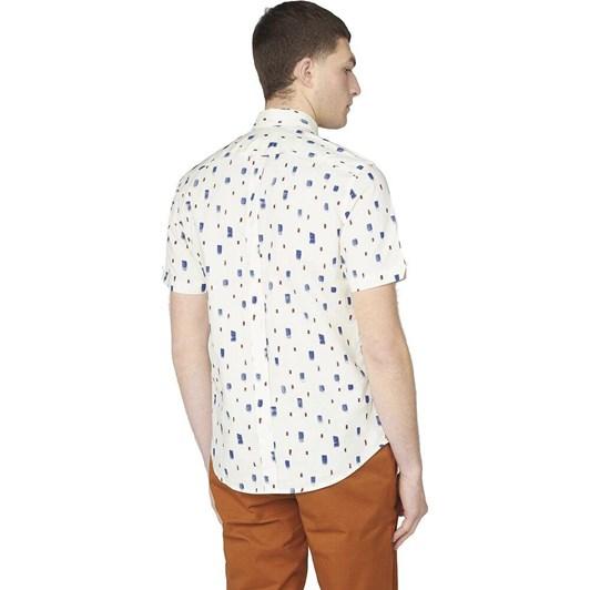 Ben Sherman SS Dash Print Shirt Ivory