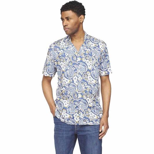 Ben Sherman SS Floral Paisley Shirt Airforce