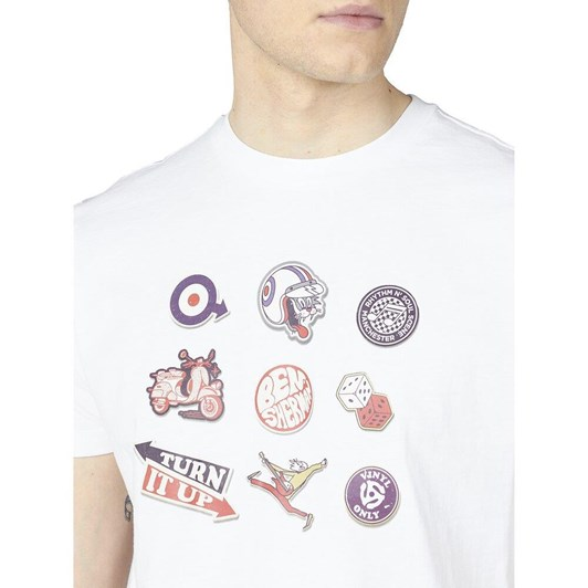 Ben Sherman Sticker Pack Tee White