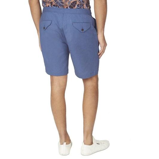 Ben Sherman Cotton Linen Short Indigo