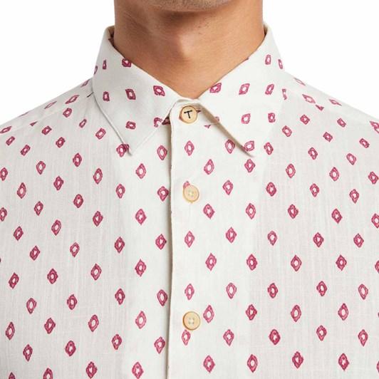 Ted Baker Ginton Ss Diamond Geo Print Shirt