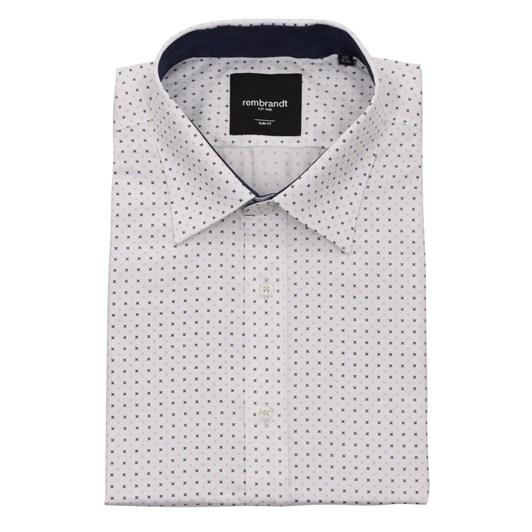 Rembrandt Barbican White Geometric Shirt