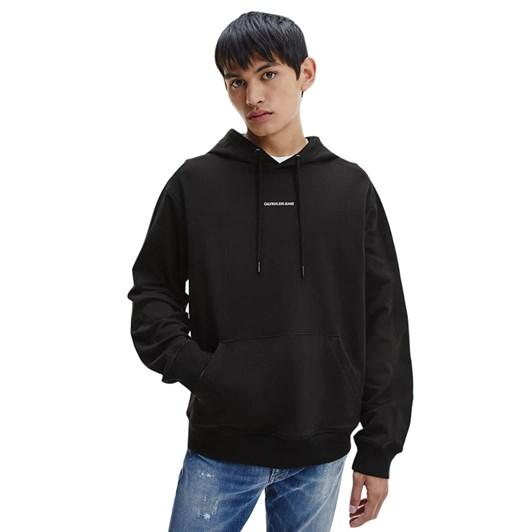 Calvin Klein Jeans Micro Branding Hood Ck Black