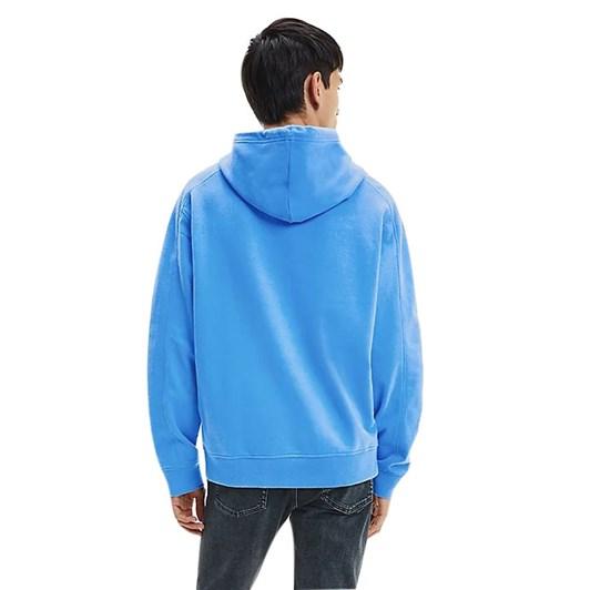 Calvin Klein Jeans Micro Branding Hoodie Blue