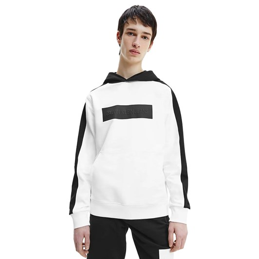 Calvin Klein Jeans Blockng Logo Hoodie White