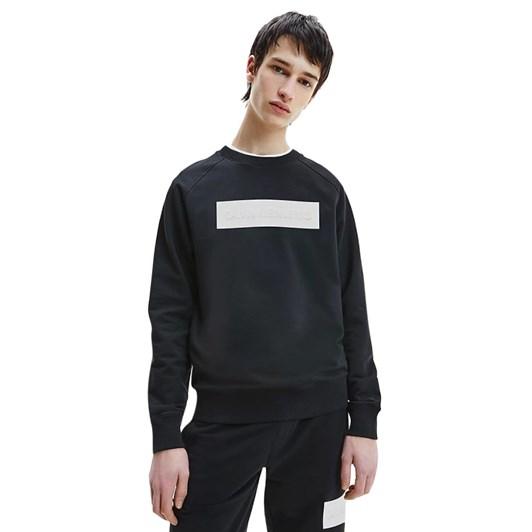 Calvin Klein Jeans Blocking Logo Crew Neck Black