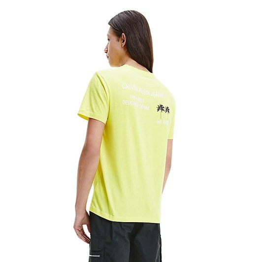 Calvin Klein Jeans Palm Print T-Shirt Yellow
