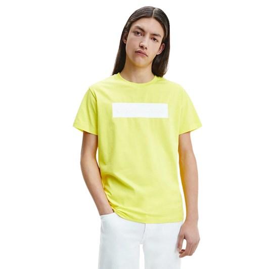 Calvin Klein Jeans Blocking Logo Tee Yellow