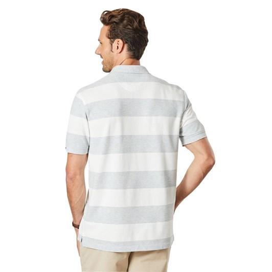 GAZMAN Block Stripe Polo