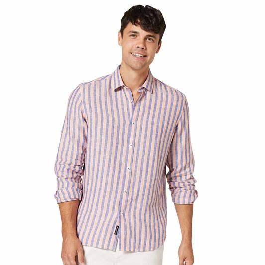 Blazer Dominic L/S Linen Stripe Shirt