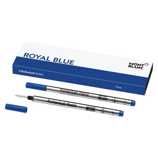 Montblanc - 2 x Fine Rollerball Pen Refills (M) Royal Blue