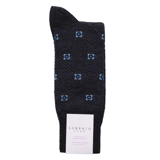 Lorenzo Merino Hexagonal Stripe Socks