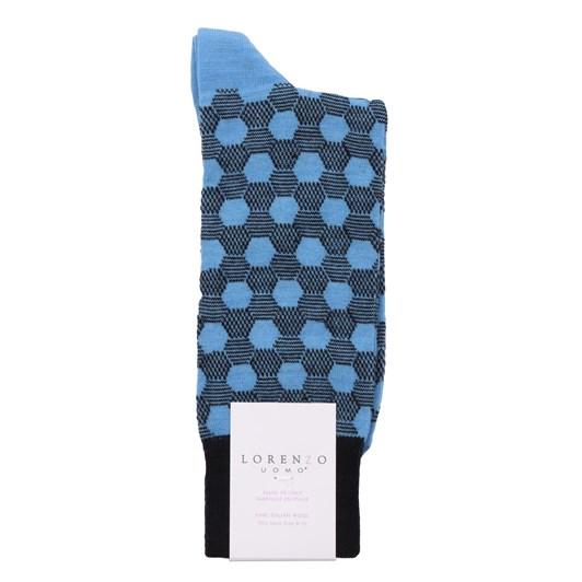 Lorenzo Hexagonal Stripe Socks